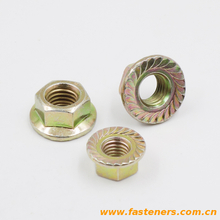 DIN6923 Carbon steel high strength yellow zinc flange nut