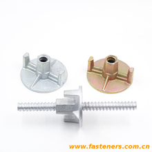 Formwork Galvanized Casting Iron Wing Nut Tie Rod Nut