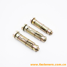 3Pcs Fix bolt with washer and bolt Carbon steel yellow zinc